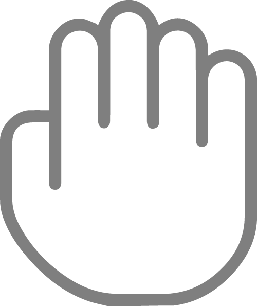little hand that is used to indicate a draging motion